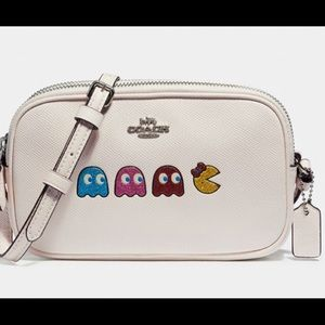 Coach crossbody pouch with ms. PAC-man animation
